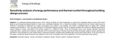 Sensitivity analysis of energy performance and thermal comfort throughout building design process